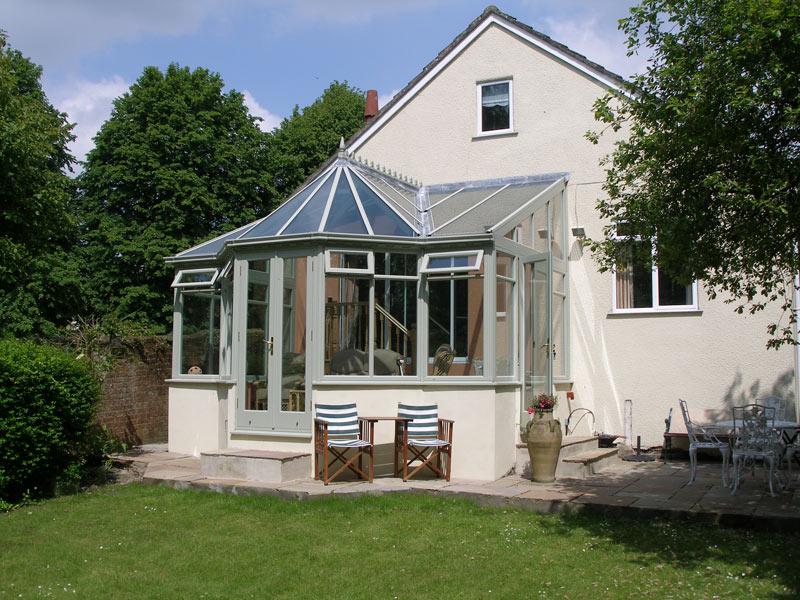 T shape conservatory